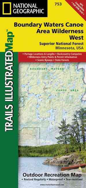 Boundary Waters Canoe Area Wilderness West By National Geographic Maps (COR)